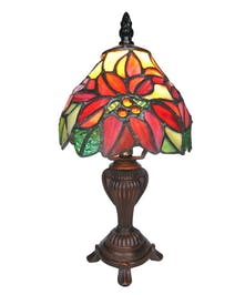 Tiffany Style Poinsettia Lamp