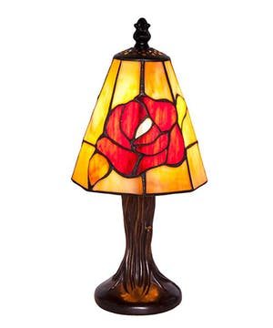 Tiffany Rose Mini Lamp