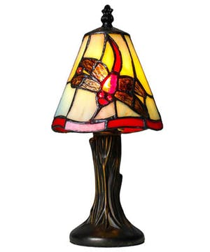 Stained Glass Mini Dragonfly Lamp