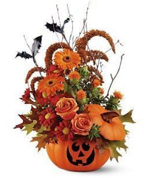 Hand-Painted Ceramic Pumpkin