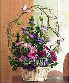 Filled with beautiful flowers, twigs & butterflies