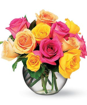 Mixed Spring Colored Roses