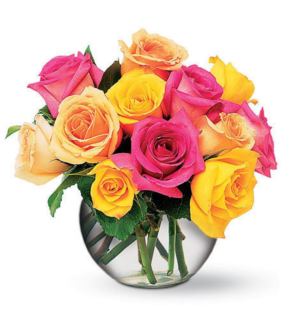 Springtime roses mixed spring colored roses durocher florist available for nationwide delivery mightylinksfo