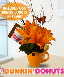 Flowers & A Free Dunkin Donuts Gift Card