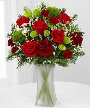 Tis the Season Mixed Vase