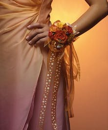 Wrist Corsage- Bold Orange