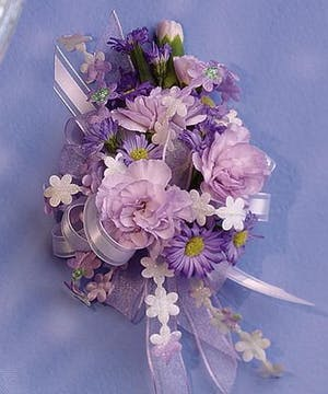 Wrist Corsage- Light lavender