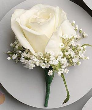 Single Rose Boutonniere