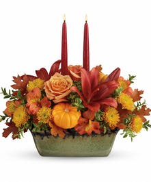 Country Oven Centerpiece - Durocher Florist