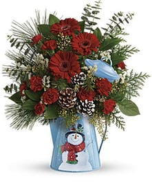 Vintage Snowman Bouquet - Durocher Florist - West Springfield, NJ Flower Delivery