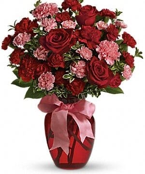 A Sweet Bouquet of Roses and Carnations
