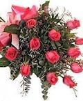 Dozen Pink Roses Hand Tied