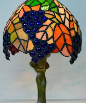 Blue Grapes Tiffany Memory Lamp