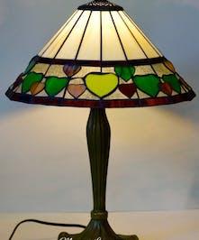 Green Hearts Tiffany Lamp