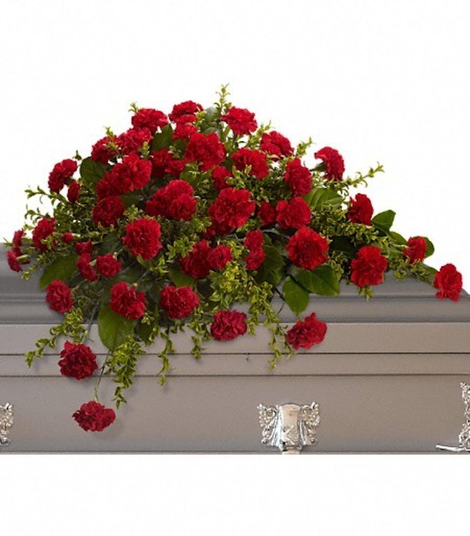 Adoration casket spray durocher florist wedding flowers west delivery conditions reward points funeral etiquette izmirmasajfo Image collections