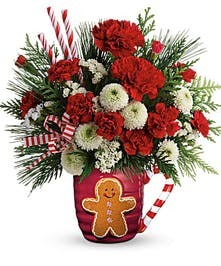 Send a Hug Winter Sips Bouquet - Durocher Florist - West Springfield, NJ Flower Delivery