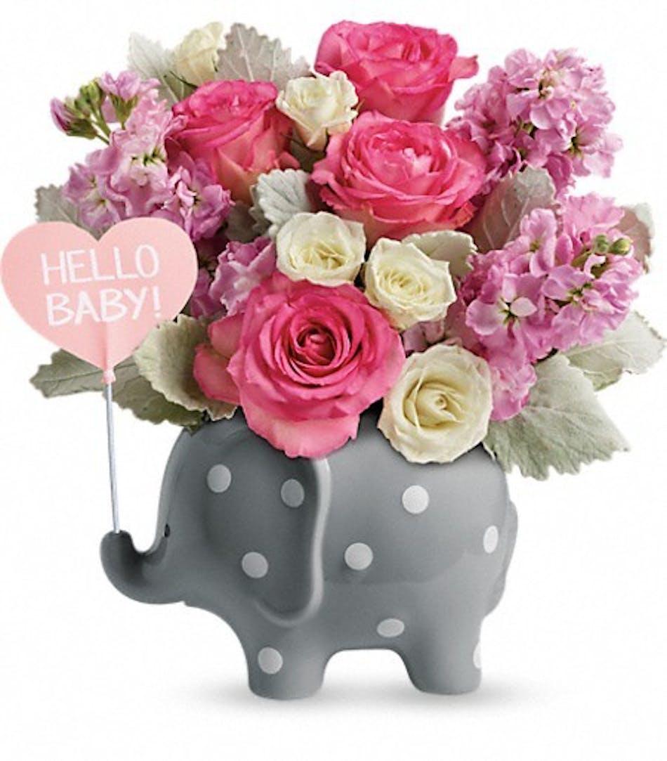 Hello Sweet Baby Pink Durocher Florist Wedding Flowers West