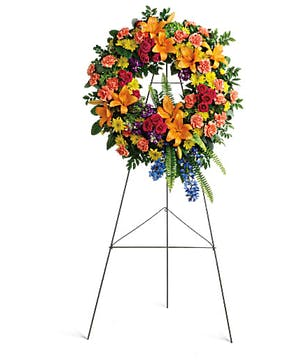 Colorful Serenity Wreath