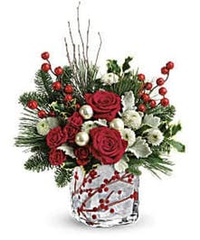 Winterberry Kisses Bouquet - Durocher Florist - West Springfield, NJ Flower Delivery