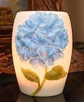 Blue Hydrangea Vase Lamp